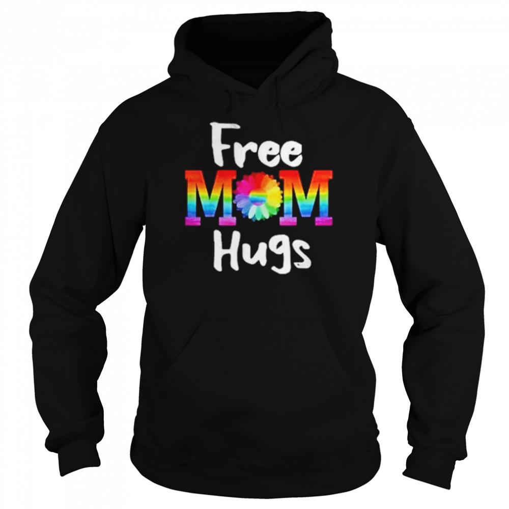 Free Mom Hugs Lgbt Flower  Unisex Hoodie