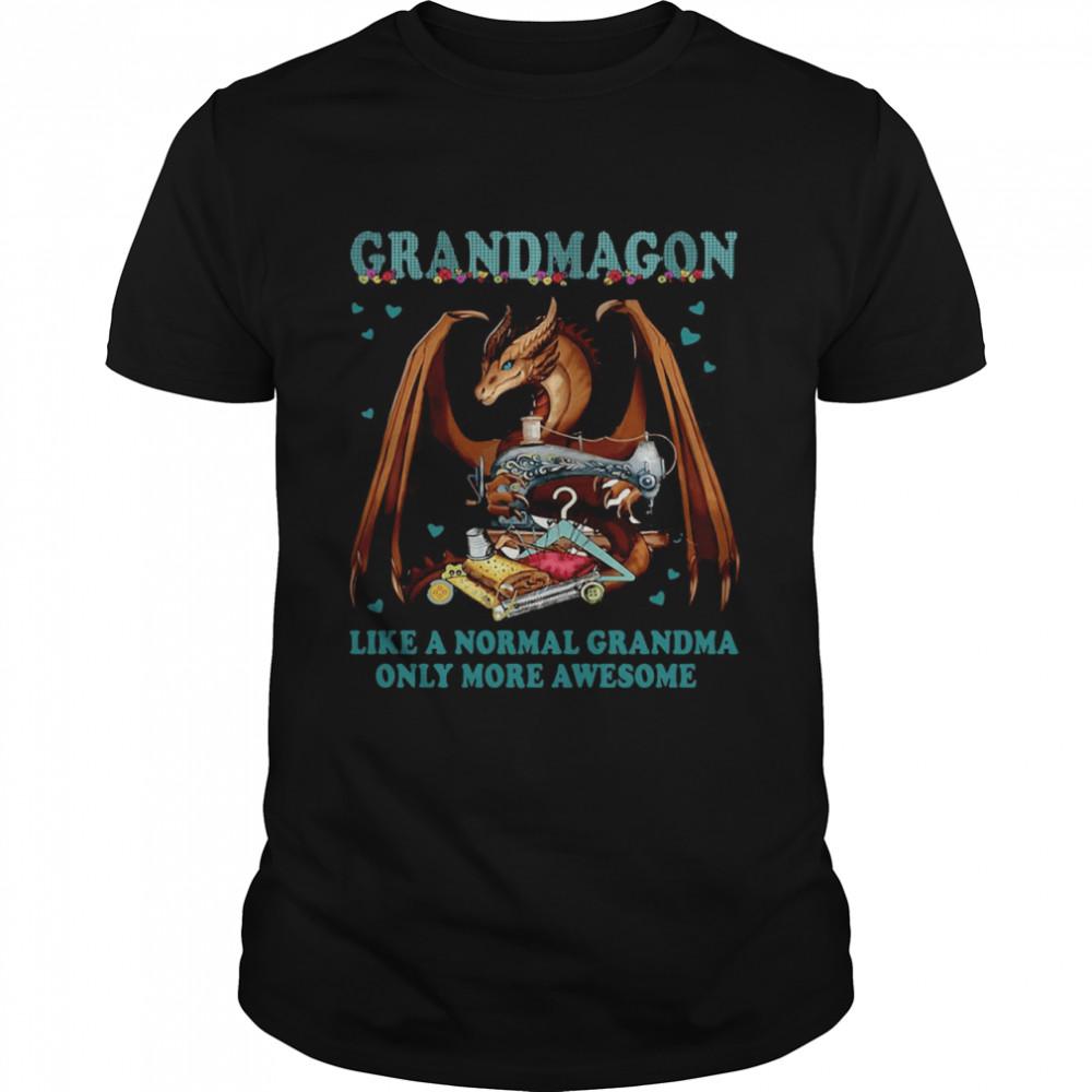 Grandmagon On Like Normal Grandma Only More Awesome T-shirt Classic Men's T-shirt