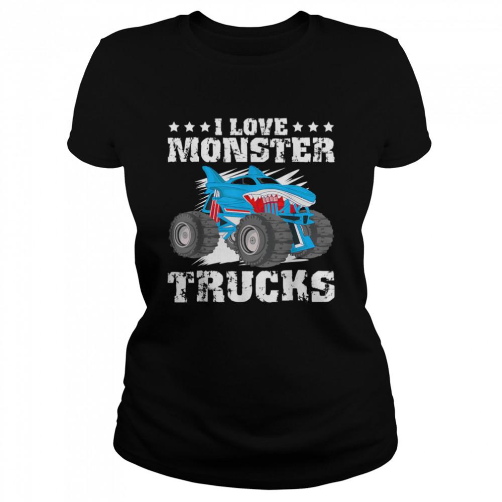 I Love Monster Trucks Stars  Classic Women's T-shirt