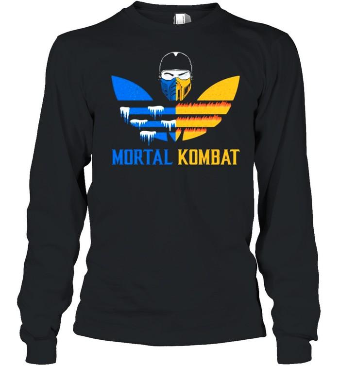 Mortal Kombat Logo Adidas  Long Sleeved T-shirt