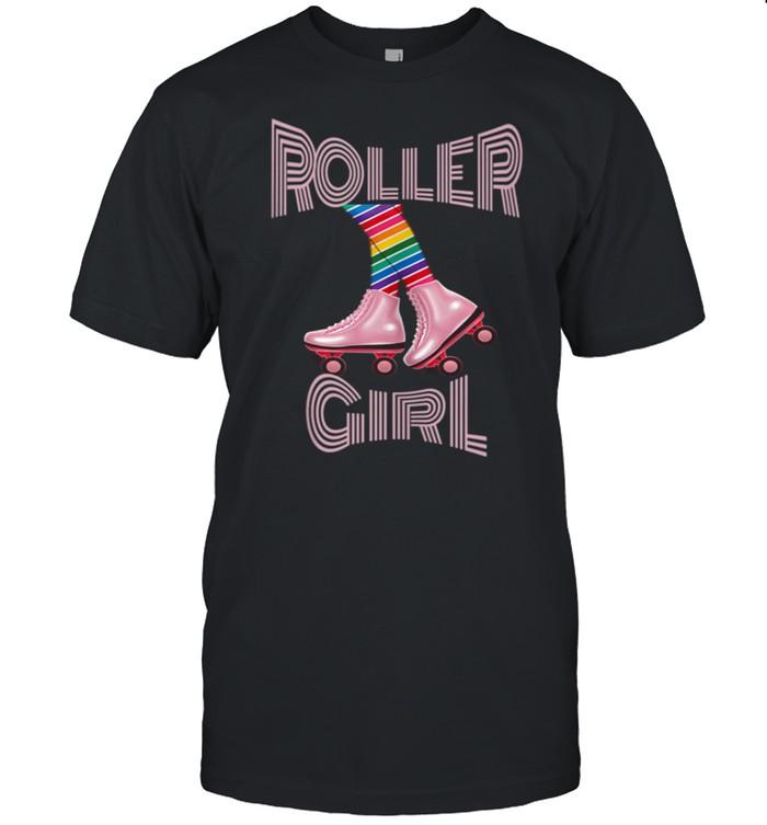 Retro Roller Skating Skate Disco Girl shirt Classic Men's T-shirt