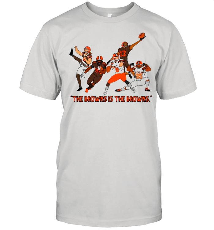 Cleveland Browns With The Brown Is The Browns shirt Classic Men's T-shirt