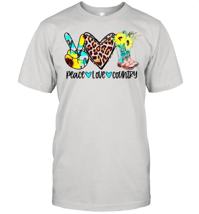 Peace Love Country shirt Classic Men's T-shirt