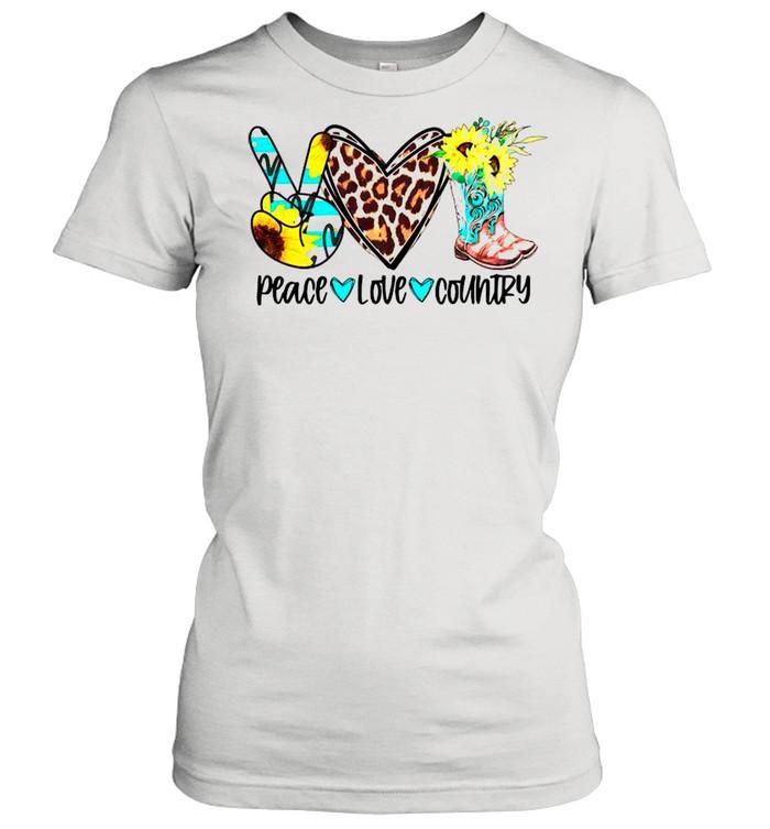 Peace Love Country shirt Classic Women's T-shirt