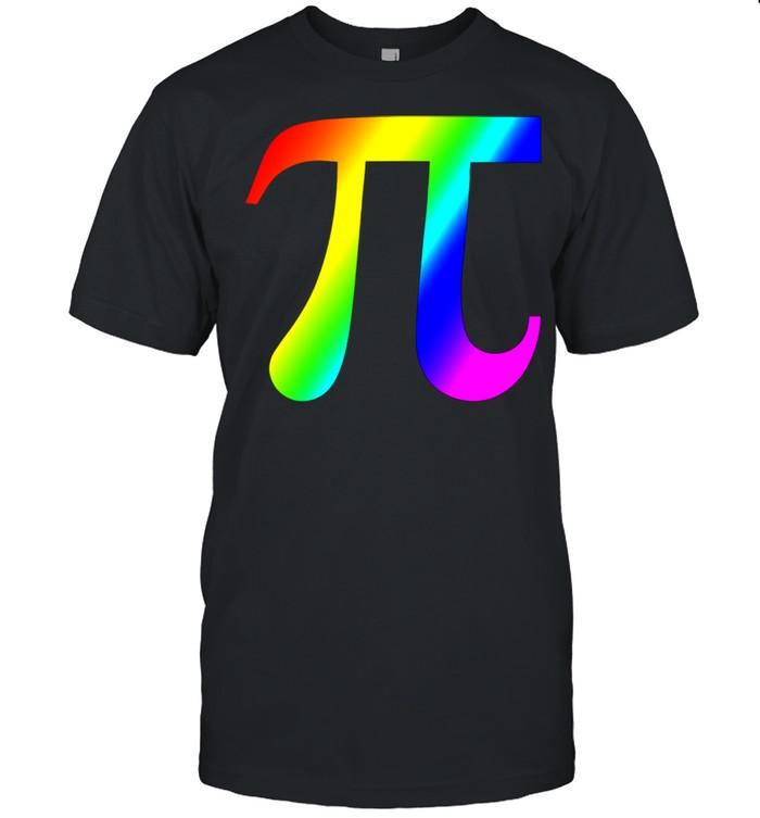 Pi Colorful Rainbow Mathematics Teacher Math shirt Classic Men's T-shirt
