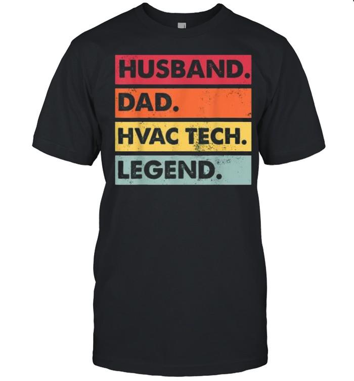 Husband Dad Hvac Tech Legend Technician Vintage  Classic Men's T-shirt