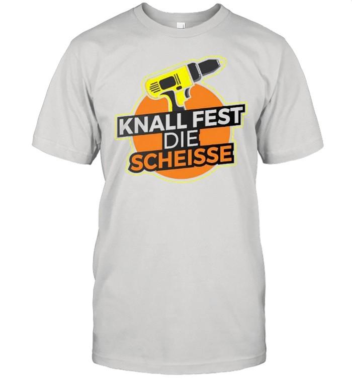 Knall fest die scheisse shirt Classic Men's T-shirt