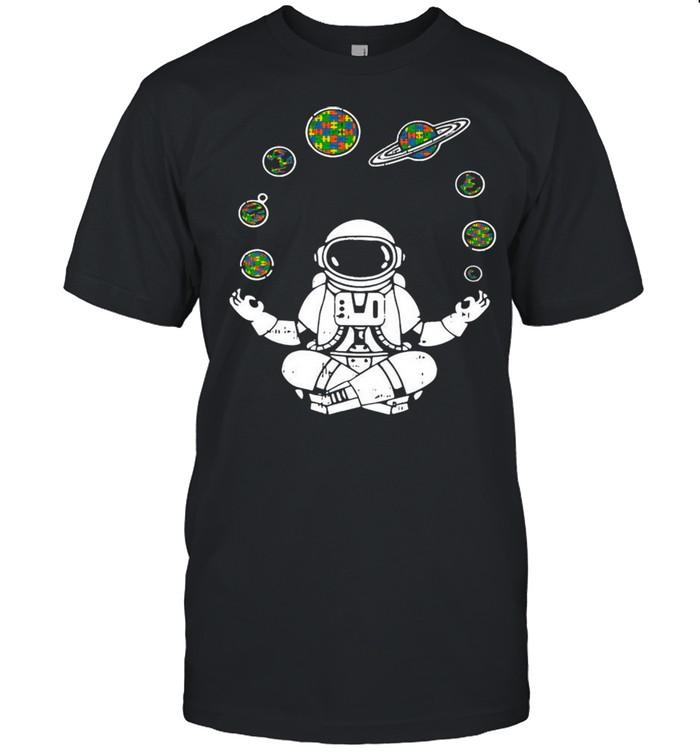 Yoga Astronaut Space Planets shirt Classic Men's T-shirt