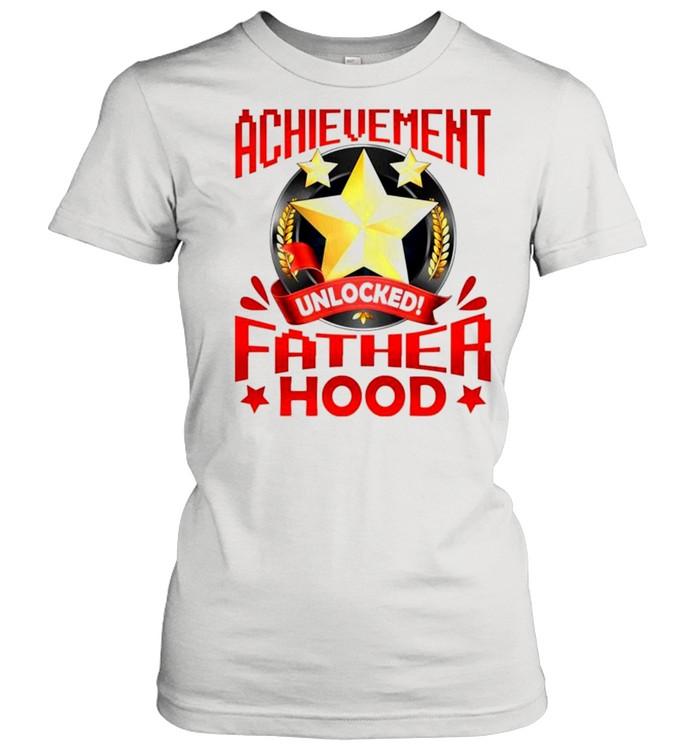 Achievement unlocked fatherhood shirt Classic Women's T-shirt