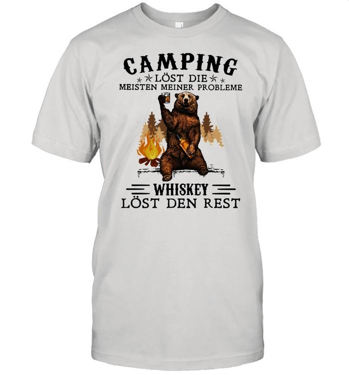 Camping Lost Die Meisten Meiner Probleme Whiskey Lost Den Rest Bear  Classic Men's T-shirt