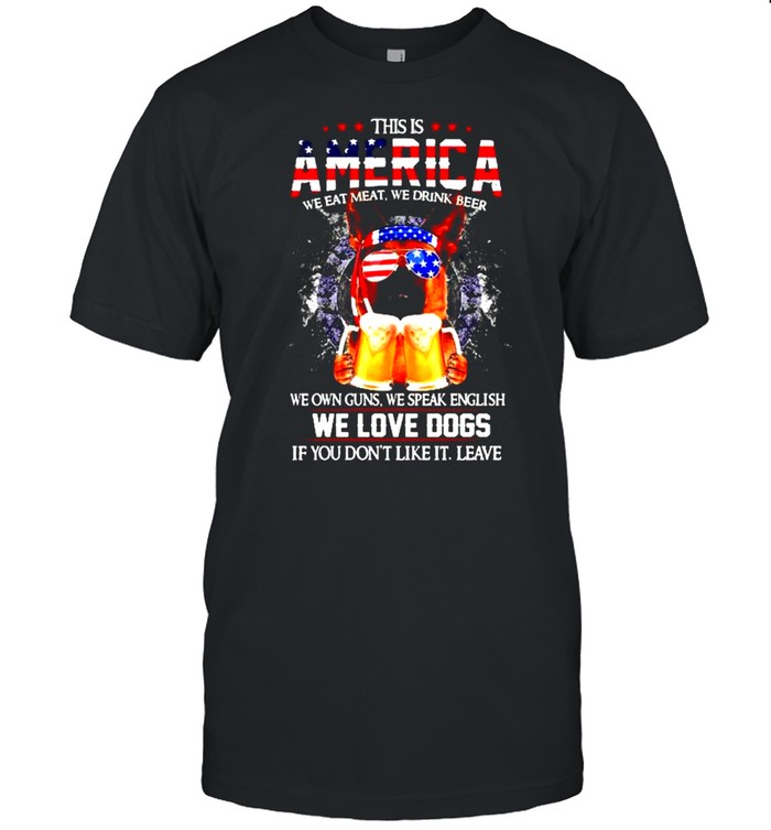 German Shepherd This is America we eat meat we drink beer shirt Classic Men's T-shirt
