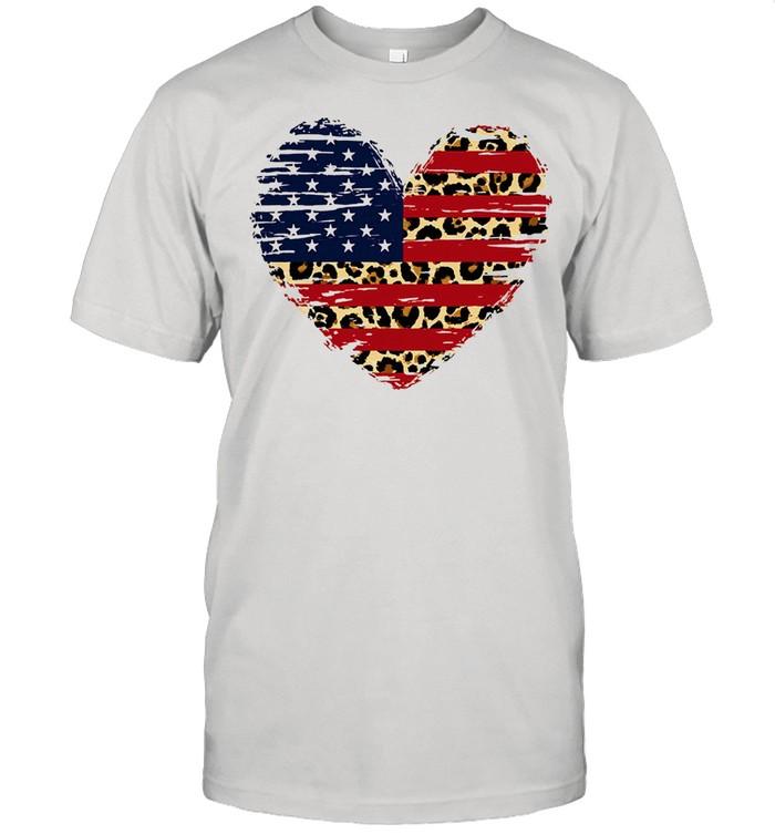 Heart American flag shirt Classic Men's T-shirt