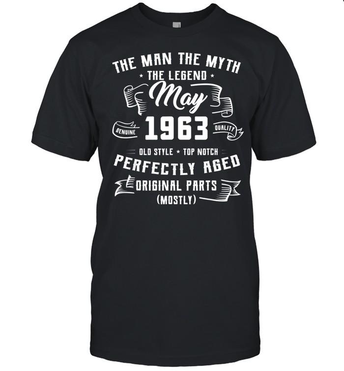 Man Myth Legend May 1963 58th Birthday For 58 Yrs Old shirt Classic Men's T-shirt