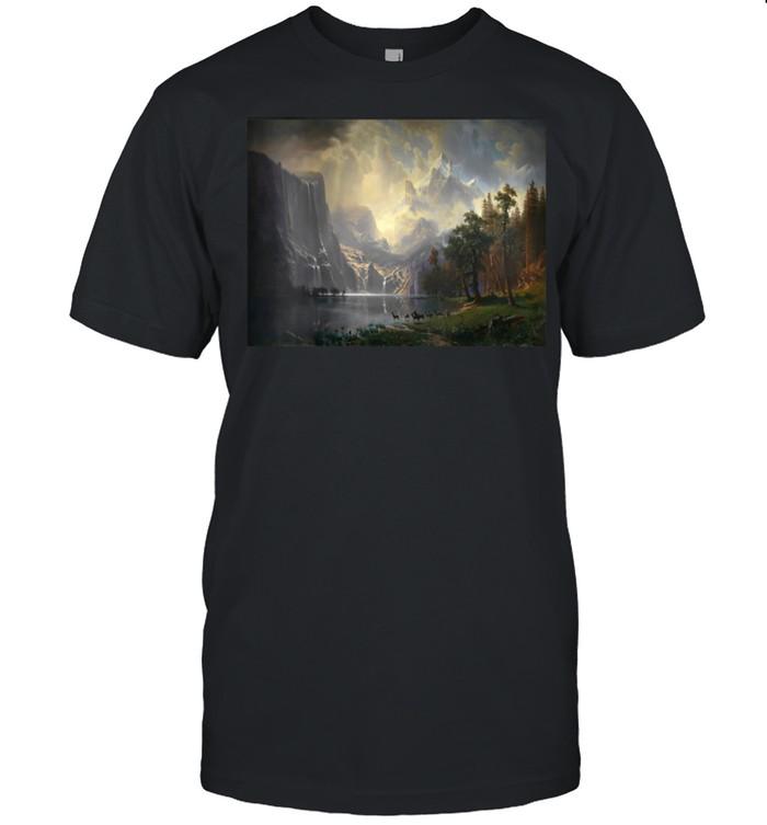 Womens Albert Bierstadt's Among the Sierra Nevada Mountains shirt Classic Men's T-shirt