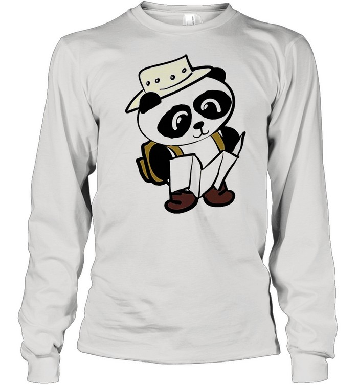 Adventure panda shirt Long Sleeved T-shirt
