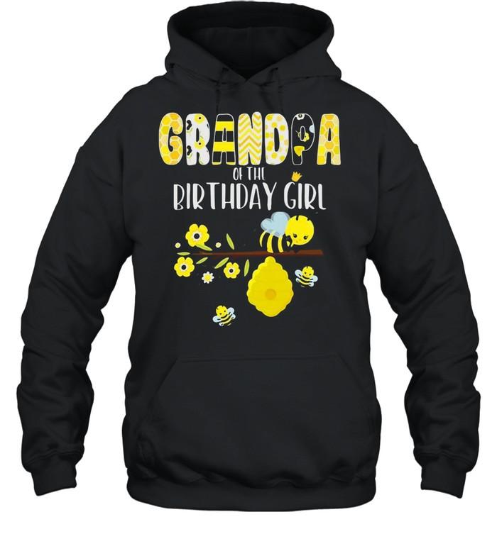 Bee Grandpa Of The Birthday Girl Bee Theme Birthday Matching Party T-shirt Unisex Hoodie