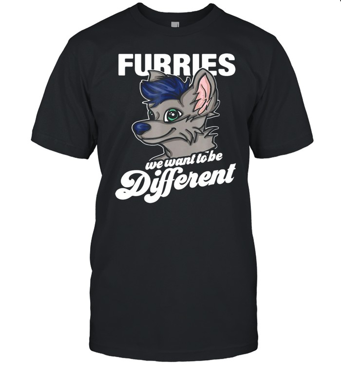Furry Fandom Furries We Want To Be Different T-shirt Classic Men's T-shirt