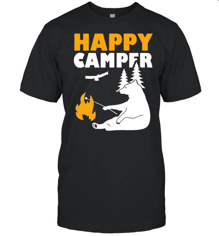 Happy Camper Camping Bear shirt Classic Men's T-shirt