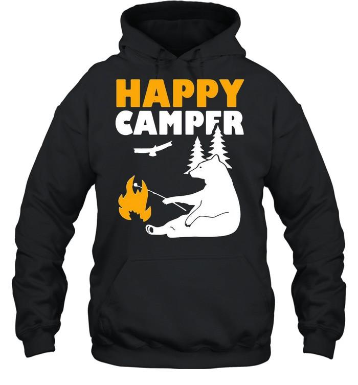 Happy Camper Camping Bear shirt Unisex Hoodie