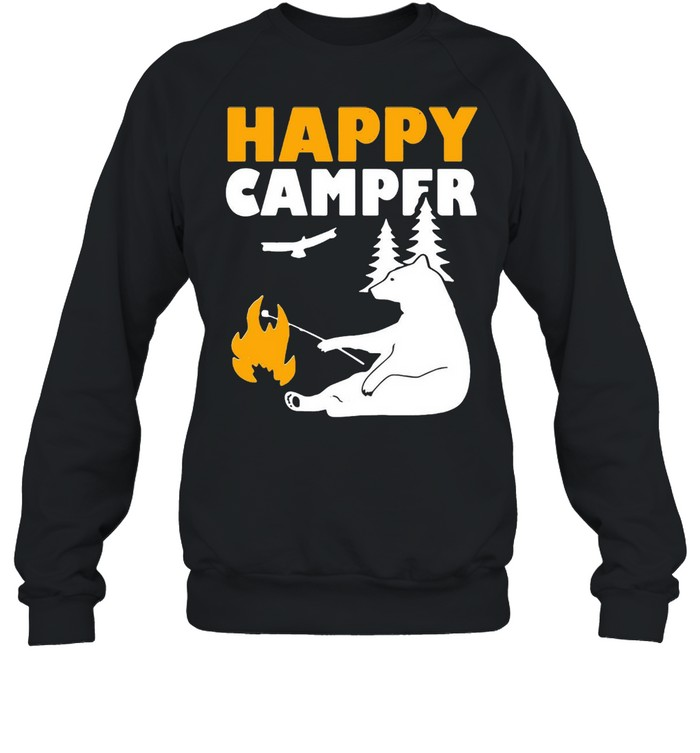 Happy Camper Camping Bear shirt Unisex Sweatshirt