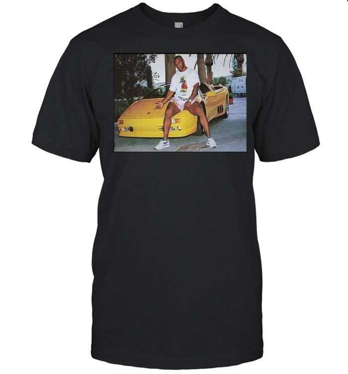 Kid Dynamite Champ Boxer Sitting On Lamborghini Print On  Classic Men's T-shirt