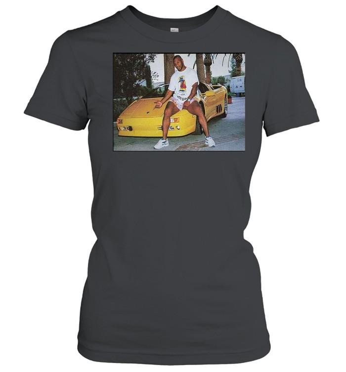 Kid Dynamite Champ Boxer Sitting On Lamborghini Print On  Classic Women's T-shirt