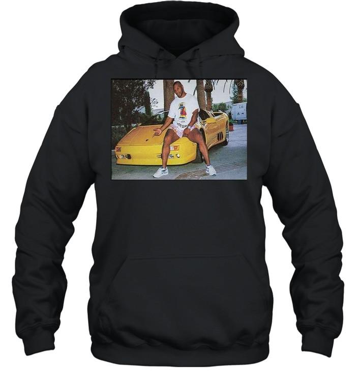 Kid Dynamite Champ Boxer Sitting On Lamborghini Print On  Unisex Hoodie