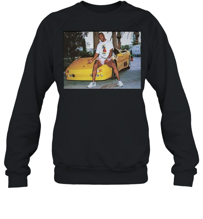 Kid Dynamite Champ Boxer Sitting On Lamborghini Print On  Unisex Sweatshirt