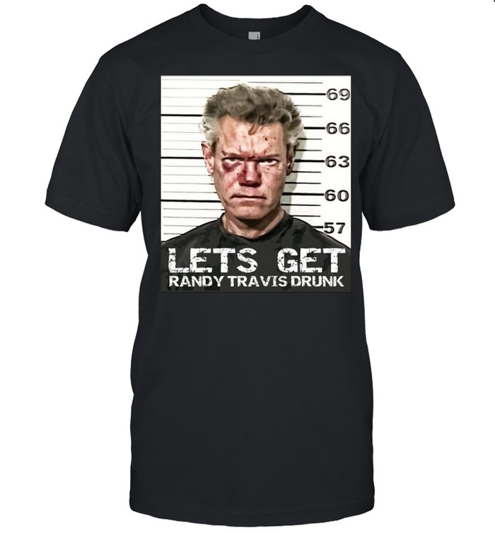 Let's Get Randy Travis Drunk Mugshot  Classic Men's T-shirt