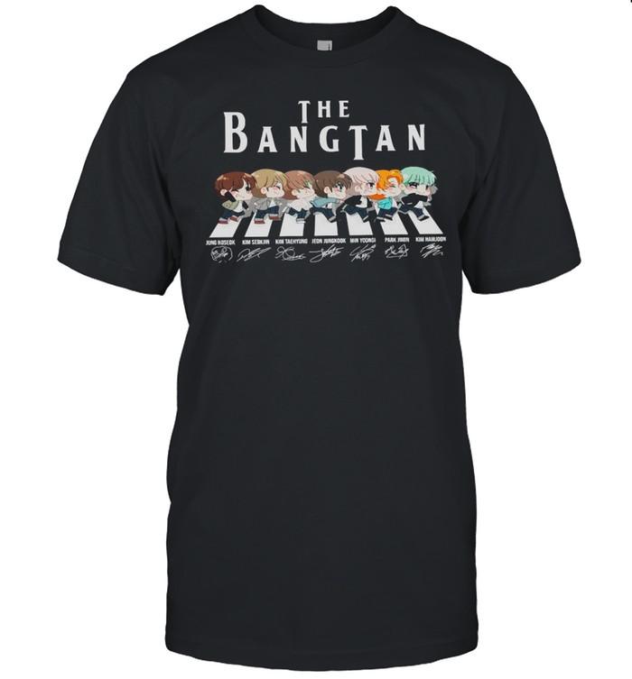 The Bangtan BTS Chibi Abbey Road Signatures shirt Classic Men's T-shirt