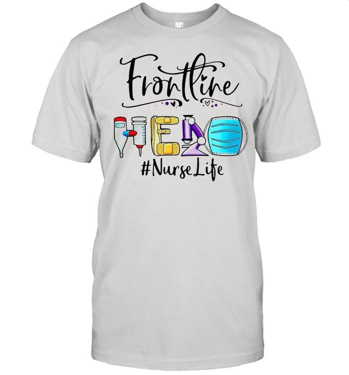 Frontline Hero Face Mask Nurse Life T-shirt Classic Men's T-shirt