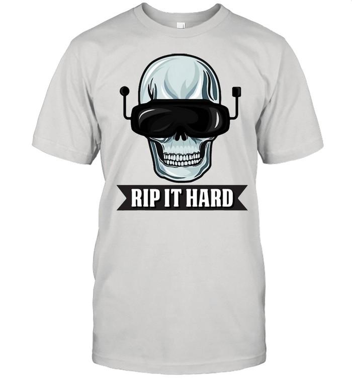 Cool Fpv Racing Design For Quadcopter Pilots Rip It Hard T-shirt Classic Men's T-shirt