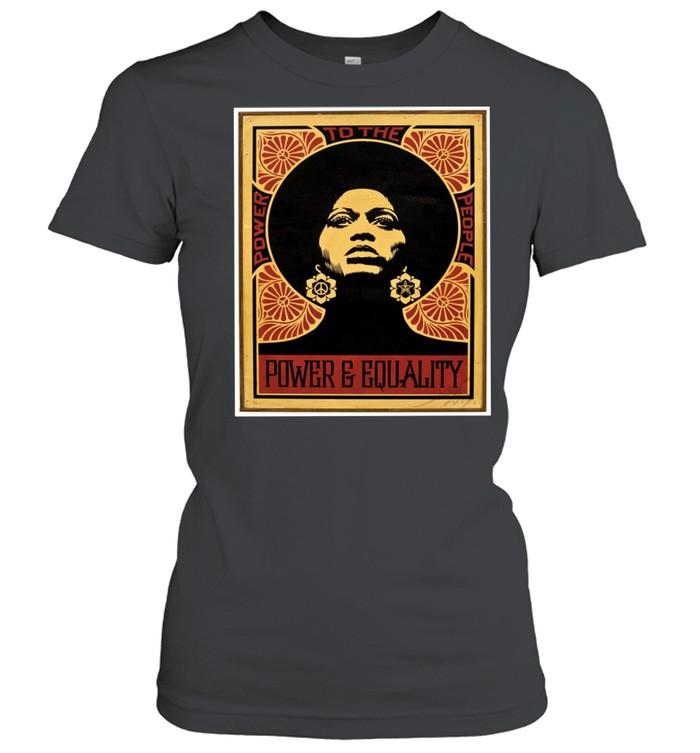 Angela Davis Power To The People Equality shirt Classic Women's T-shirt