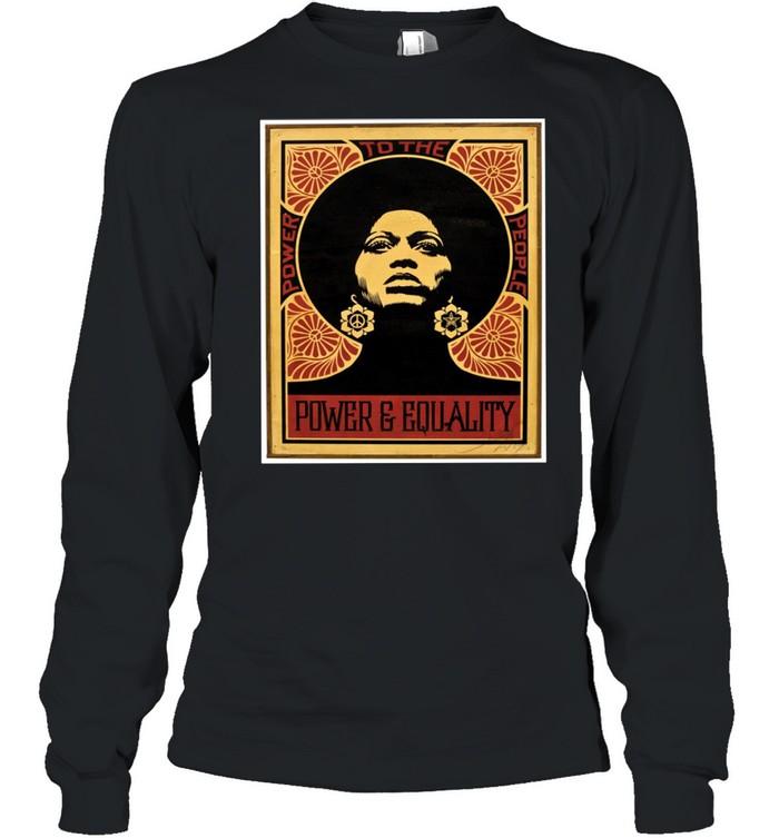 Angela Davis Power To The People Equality shirt Long Sleeved T-shirt