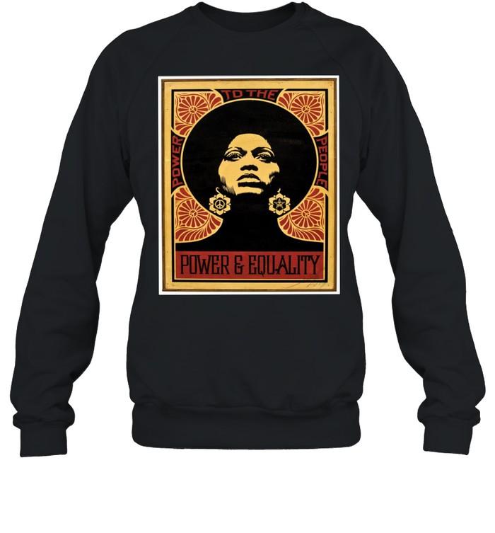 Angela Davis Power To The People Equality shirt Unisex Sweatshirt