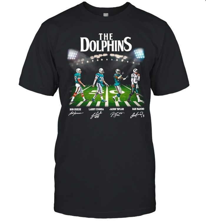 The Miami Dolphin With Griese Csonka Taylor And Mario Abbey Road Signatures shirt Classic Men's T-shirt