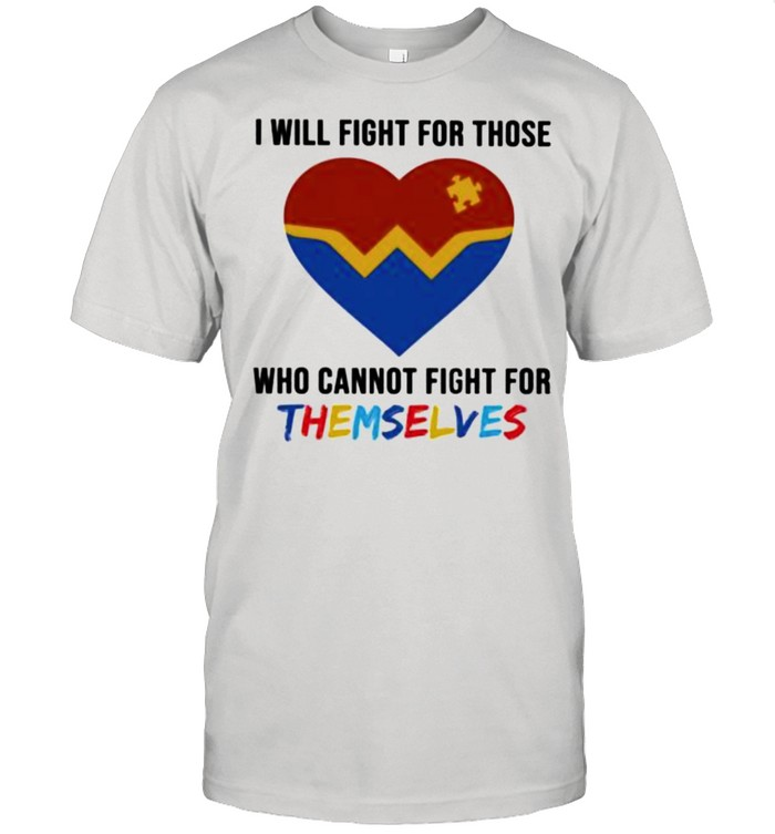 Autism I will fight for those who cannot fight for themselves  Classic Men's T-shirt