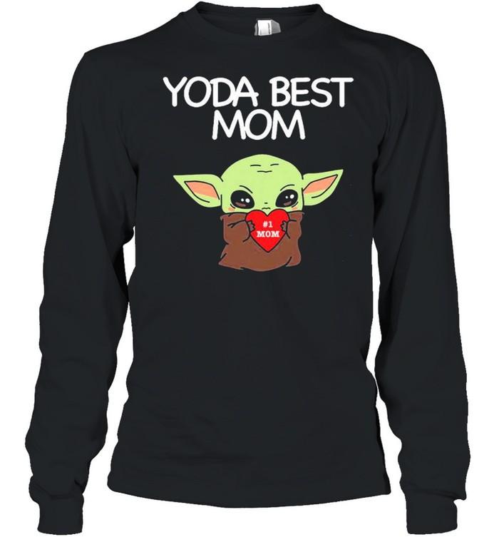 Yoda Best Mom shirt Long Sleeved T-shirt