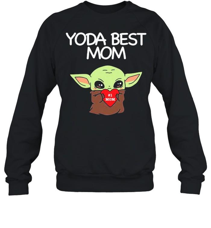 Yoda Best Mom shirt Unisex Sweatshirt