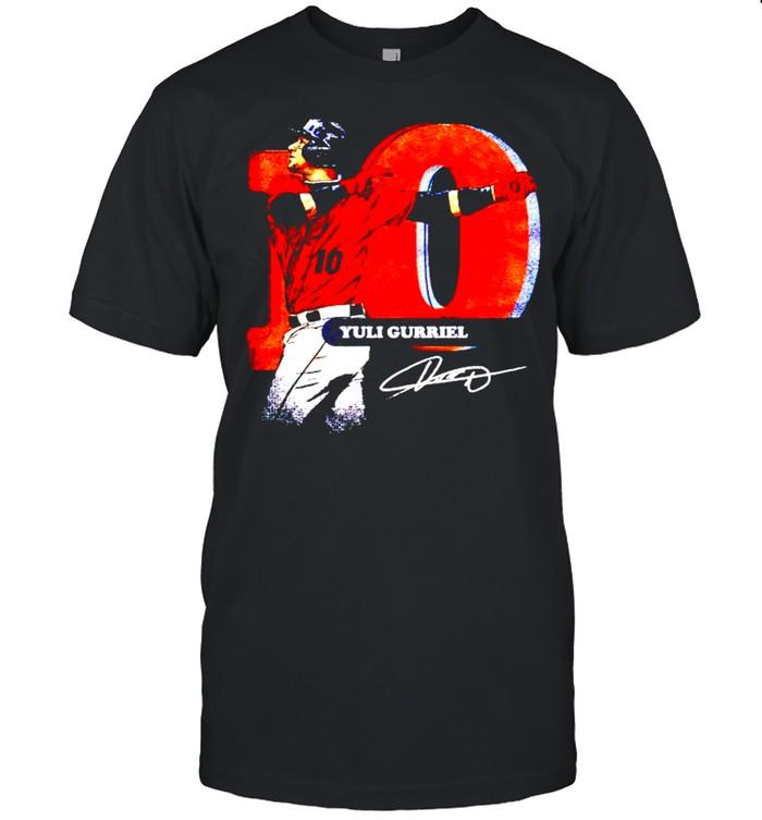Houston Baseball 10 Yuli Gurriel Swing signature shirt Classic Men's T-shirt