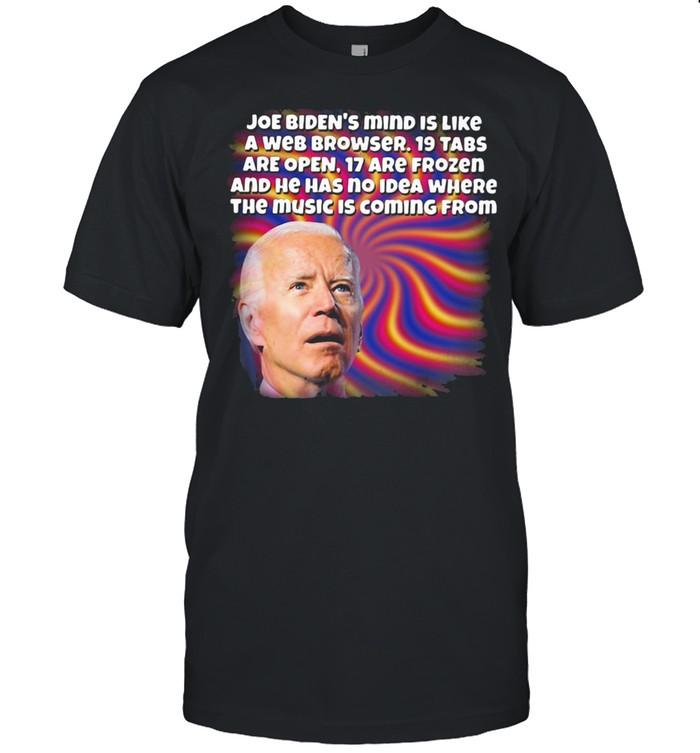 Joe Biden's Mind IS Like A Web Brower  Classic Men's T-shirt