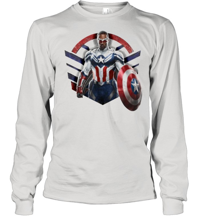 Marvel The Falcon the Winter Soldier Captain America Strong  Long Sleeved T-shirt