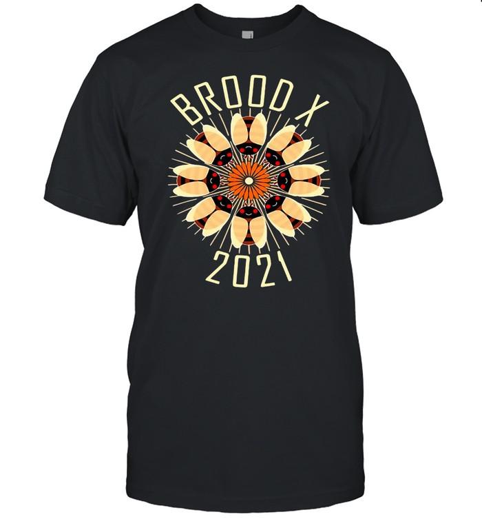 Cicada Mandala Brood X 2021 Eastern Usa Bug T-shirt Classic Men's T-shirt