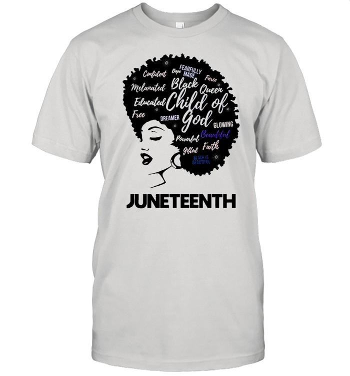 Black Women Juneteenth Black Queen Child Of God shirt Classic Men's T-shirt