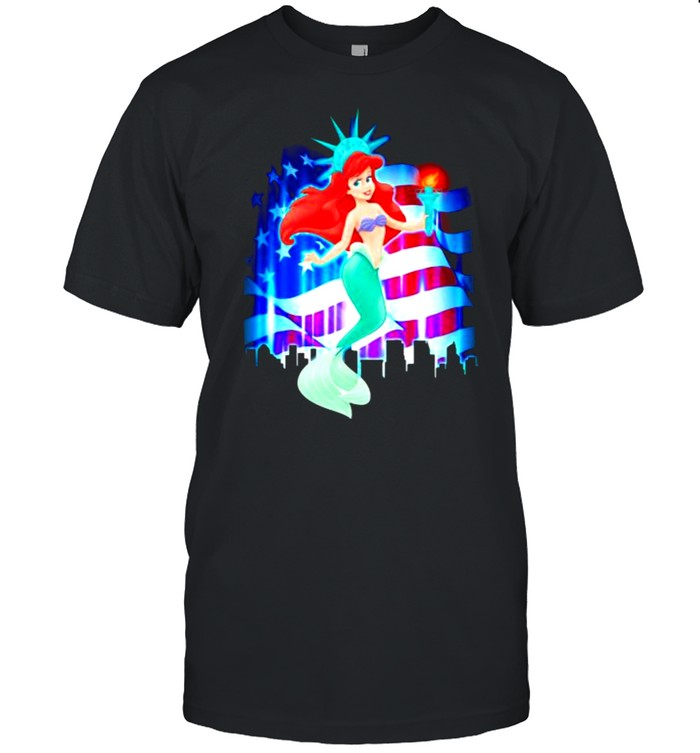 Disney Little Mermaid Ariel 4th Of July Independence  Classic Men's T-shirt