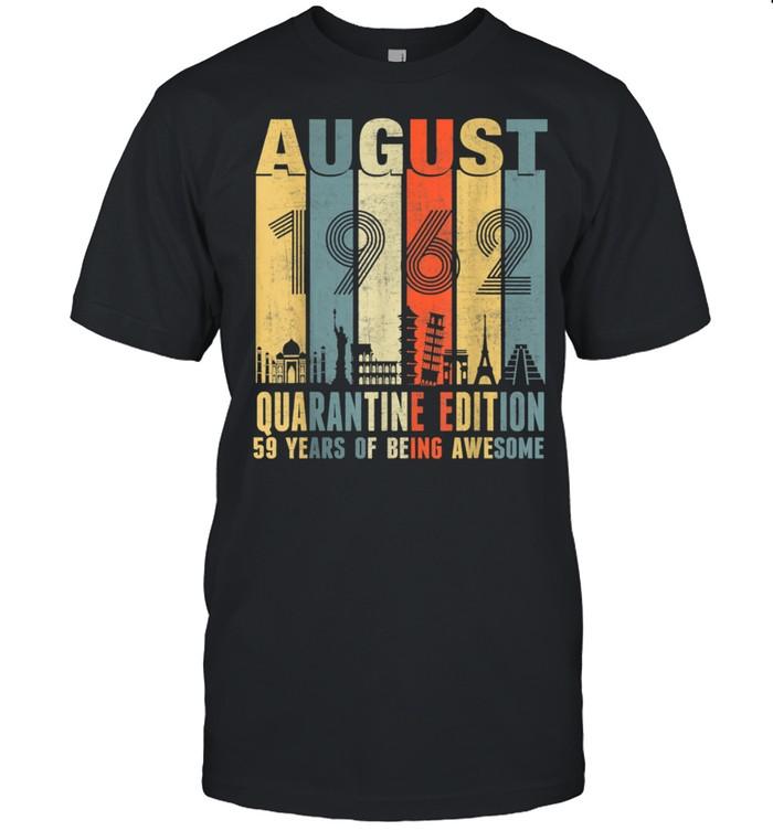 August 1962 59th Birthday Vintage shirt Classic Men's T-shirt