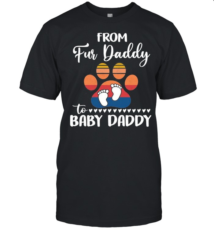From Fur Daddy To Baby Daddy Dogs Vintage shirt Classic Men's T-shirt