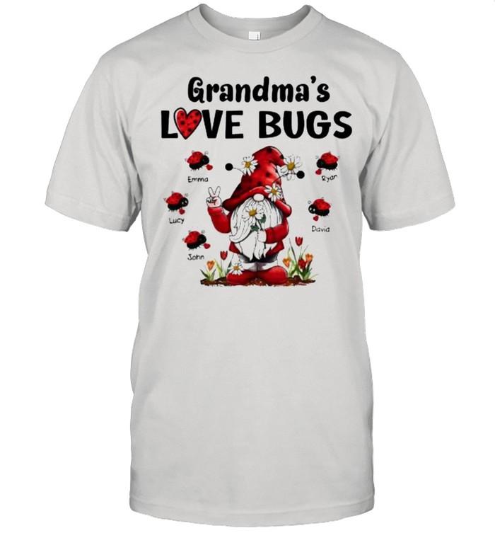Grandma's Love Bugs Gnome Flowers  Classic Men's T-shirt