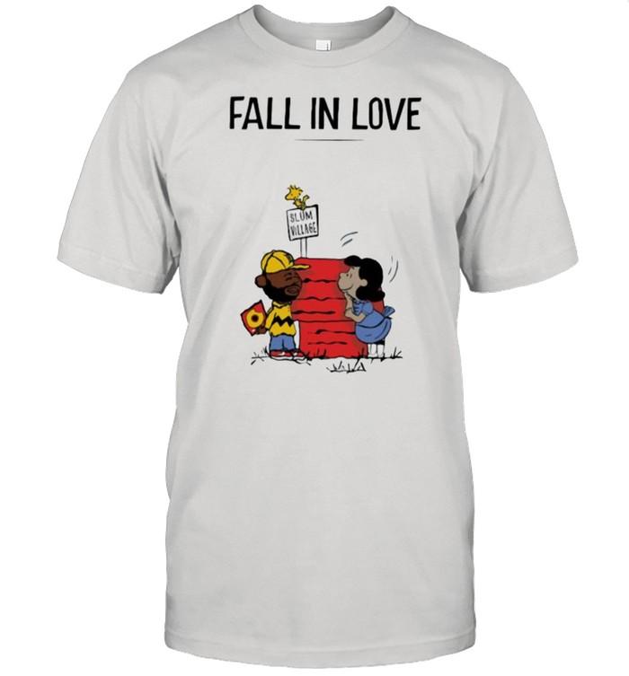 Fall in love slum village peanuts madvillain shirt Classic Men's T-shirt