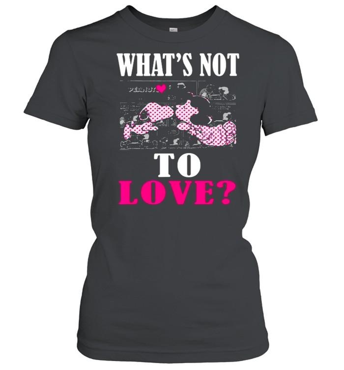 Whats not to love snoopy heart shirt Classic Women's T-shirt